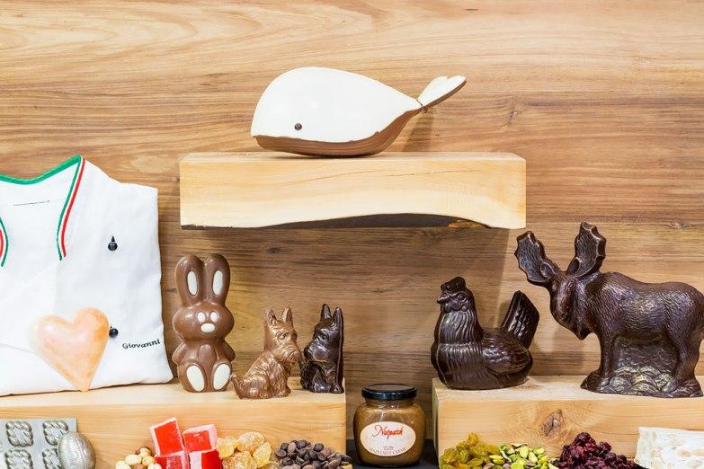 Chocolate animals.