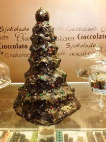 Antique chocolate Christmas tree.