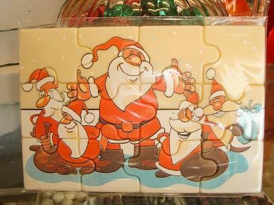 Christmas chocolate puzzle.